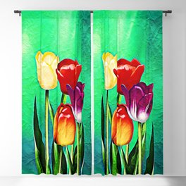 Happy Easter Greetings Tulips #society6 #flowers Blackout Curtain