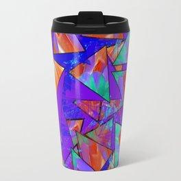 Blue Kaleidoscopic Travel Mug