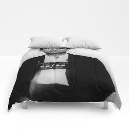 Johnny Cash Mug Shot Vertical Comforters