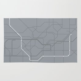London Underground Jubilee Line Route Tube Map Rug