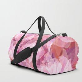 Spring Cherry Blossom Flower Pattern, Delicate Lavender Pink Floral Design Duffle Bag