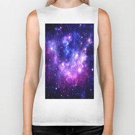 Purple Blue Galaxy Nebula Biker Tank