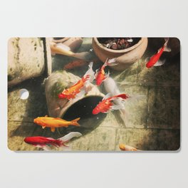 Koi Pond Cutting Board