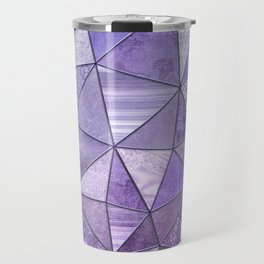 Purple Lilac Glamour Shiny Shimmering Patchwork Travel Mug