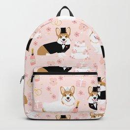 Corgi Wedding cute corgi bride and groom dog wedding summer cute blush dog wedding dog lovers Backpack