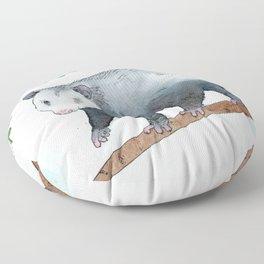 Opossum in a Rowan Tree Floor Pillow