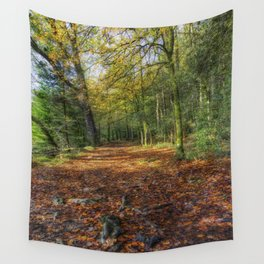 Autumn Forest Walks Wall Tapestry