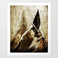 silent hill Art Prints featuring Silent Hill Pyramid Head by Joe Misrasi