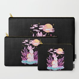 Plant Jackalope // Black Carry-All Pouch