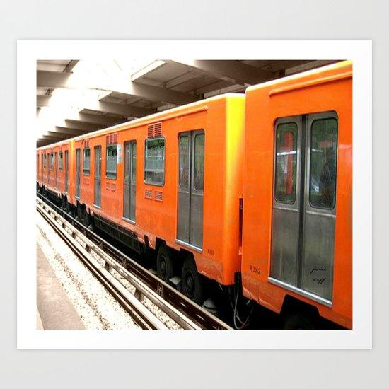 the big orange Art Print