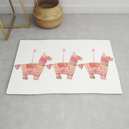 Mexican Donkey Piñata – Pink & Rose Gold Palette Rug