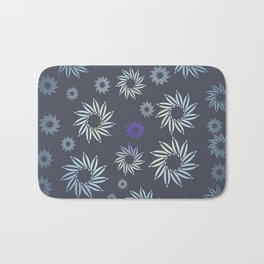 Multicolored flowers with neutral background in pastel colors. Bath Mat
