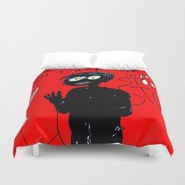 PANIC - red Duvet Cover