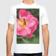 Flower Bee MEDIUM White Mens Fitted Tee