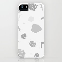 SHAPES GREY iPhone Case
