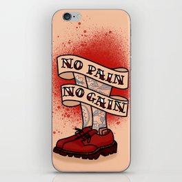No Pain No Gain iPhone Skin