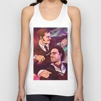 johnlock Tank Tops featuring Watson and Holmes by Krusca