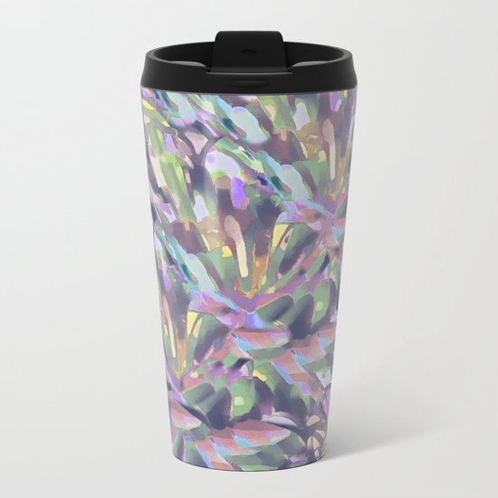 Soft Pastel Garden Abstract  Metal Travel Mug