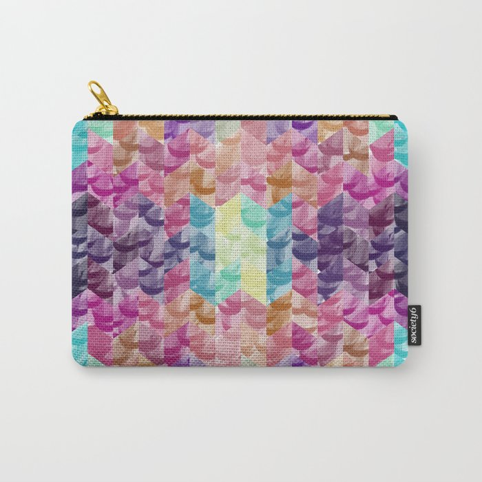 Crystal geometric Background Carry-All Pouch