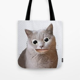 Cat With Googly Eyes Tote Bag