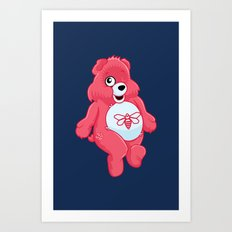 breaking bear. Art Print