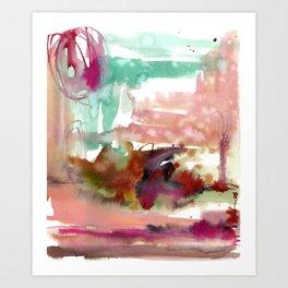 Neringa coast Art Print