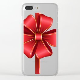 Decorative Red Bow Transparent Clip Art Clear iPhone Case