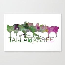 Tallahassee Art, Tallahassee Skyline, Tallahassee map, Tallahassee skyline, Tallahassee map print Canvas Print