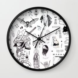 B&W Flash Wall Clock