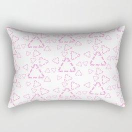 see me less text seamless design Rectangular Pillow