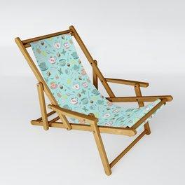 Vintage Pastel Teacups Tea Party Pattern Sling Chair
