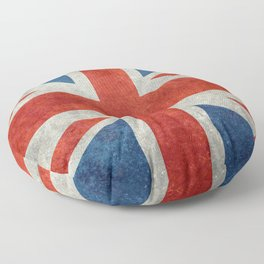 "UK Union Jack flag ""Bright"" retro grungy style Floor Pillow"