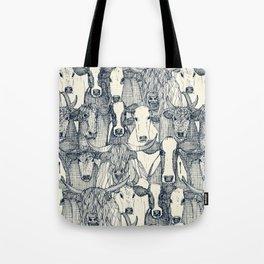 just cattle indigo pearl Tote Bag