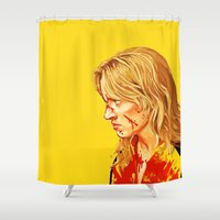 kill bill Shower Curtains featuring kill Bill by Maioriz Home