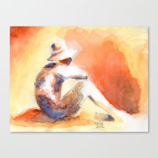 SUNSET AQUARELLE Canvas Print