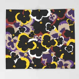 Pansy Love Throw Blanket