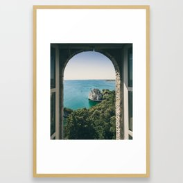 View from the Villa Framed Art Print