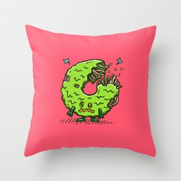 Zombie Donut 02 Throw Pillow