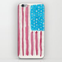 american flag iPhone & iPod Skins featuring American Flag by Caleb Boyles