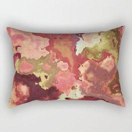 Peach & Gold Marble - abstract Art by Fluid Nature Rectangular Pillow