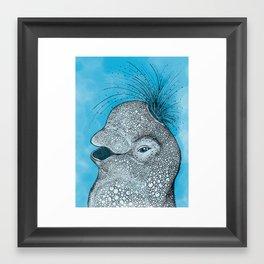 Happy Little Beluga Whale Framed Art Print