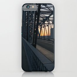 sunset on the bridge iPhone Case