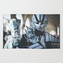 Carnival masks in Venice Rug