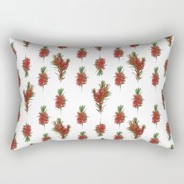 Australian Native Bottlebrush Pattern Rectangular Pillow