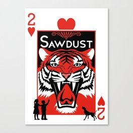 Sawdust Deck: The 2 of Hearts Canvas Print
