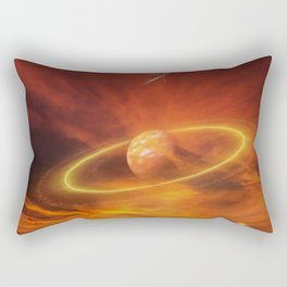 The Planets Cosmos Girl by GEN Z Rectangular Pillow