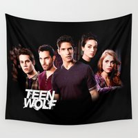 teen wolf Wall Tapestries featuring teen wolf by kikabarros