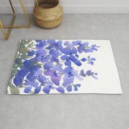 Beautiful Blue Delphiniums Rug