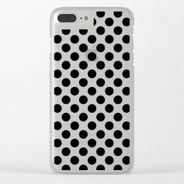 Black Polka Dots Clear iPhone Case
