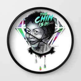 LEE LIN CHIN - THE CHIN IS IN Wall Clock